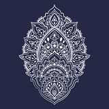 Beautiful Indian floral ornament. Ethnic Mandala. Henna tattoo s Royalty Free Stock Photos