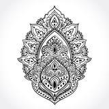 Beautiful Indian floral ornament. Ethnic Mandala.  Stock Photography