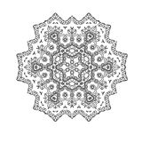 Beautiful Indian floral ornament. Mandala. Royalty Free Stock Photography