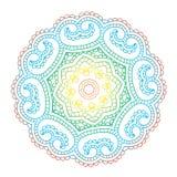 Beautiful Indian floral ornament. Mandala. Royalty Free Stock Photos