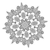 Beautiful Indian floral ornament. Mandala. Stock Images