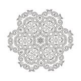 Beautiful Indian floral ornament. Mandala. Stock Images