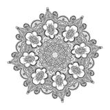 Beautiful Indian floral ornament. Mandala.