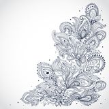 Beautiful Indian floral ornament Royalty Free Stock Images