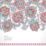 Beautiful Indian floral paisley ornament print Royalty Free Stock Photos