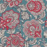 Beautiful Indian floral paisley seamless ornament print. Ethnic Royalty Free Stock Photos