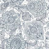 Beautiful Indian floral paisley seamless ornament print. Ethnic vector illustration