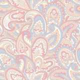 Beautiful Indian floral paisley seamless ornament print.  Royalty Free Stock Photography