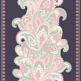Beautiful Indian floral paisley seamless ornament print. Ethnic Stock Photos