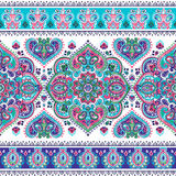 Beautiful Indian floral paisley seamless ornament print. Ethnic Stock Photography