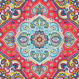 Beautiful Indian floral paisley seamless ornament print. Ethnic Royalty Free Stock Images