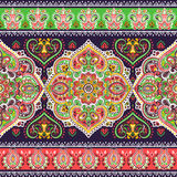 Beautiful Indian floral paisley seamless ornament print. Ethnic Royalty Free Stock Photography