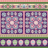 Beautiful Indian floral paisley seamless ornament print. Ethnic Royalty Free Stock Image