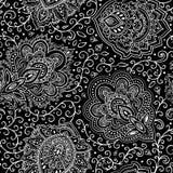 Beautiful Indian floral seamless ornament. Ethnic Mandala. Henna Royalty Free Stock Photos