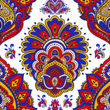 Beautiful Indian floral seamless ornament. Ethnic Mandala. Henna Royalty Free Stock Image