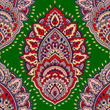 Beautiful Indian floral seamless ornament. Ethnic Mandala. Henna Stock Photo