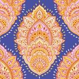 Beautiful Indian floral seamless ornament. Ethnic Mandala. Henna Stock Image