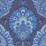 Beautiful Indian floral seamless ornament. Ethnic Mandala. Henna Royalty Free Stock Photography
