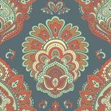 Beautiful Indian floral seamless ornament. Ethnic Mandala. Henna Royalty Free Stock Photo