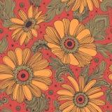 Beautiful Indian floral seamless pattern Stock Photos