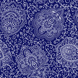 Beautiful Indian floral seamless pattern Royalty Free Stock Images