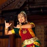 Beautiful Indian girl dancing classical traditional Indian dance Stock Image
