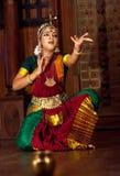 Beautiful Indian girl dancing classical traditional Indian dance Royalty Free Stock Image