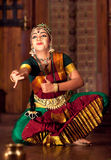 Beautiful Indian girl dancing classical traditional Indian dance Stock Image