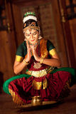 Beautiful Indian girl dancing classical traditional Indian dance Royalty Free Stock Photography