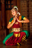 Beautiful Indian girl dancing classical traditional Indian dance Stock Photos