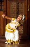 Beautiful Indian girl dancing Mohinyattam dance Stock Images