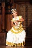 Beautiful Indian girl dancing Mohinyattam dance Royalty Free Stock Photos