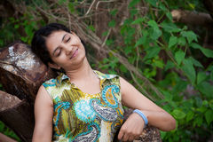 Beautiful Indian girl smiling Stock Photography