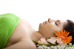 A beautiful Indian girl in spa Stock Images