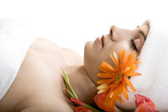 A beautiful Indian girl in spa Stock Image
