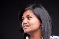 Beautiful indian girl thinking or looking Stock Images