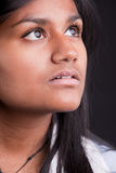 Beautiful indian girl thinking or looking Royalty Free Stock Photos