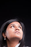 Beautiful indian girl thinking and solving Stock Photos