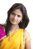 Beautiful Indian girl in traditional Indian half sari Royalty Free Stock Image