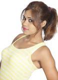 Beautiful indian girl on white background Royalty Free Stock Photos