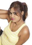 Beautiful indian girl on white background Royalty Free Stock Photo
