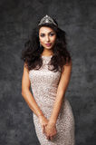 Beautiful indian lady in fitting dress and diadem Stock Photos