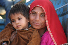 Beautiful Indian Mum with her son Royalty Free Stock Image