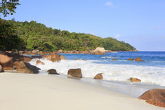Beautiful Indian Ocean on the beach of Anse Lazio Royalty Free Stock Photos