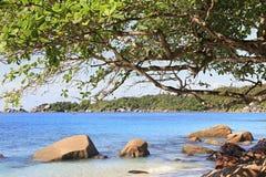 Beautiful Indian Ocean on the beach of Anse Lazio Royalty Free Stock Photos