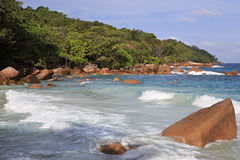 Beautiful Indian Ocean and beach Anse Lazio Royalty Free Stock Images