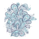 Beautiful Indian paisley ornament Stock Images