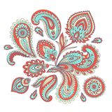 Beautiful Indian paisley ornament Royalty Free Stock Photography