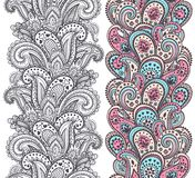 Beautiful Indian paisley ornaments Royalty Free Stock Photo