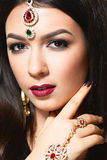 Beautiful indian princess portrait Royalty Free Stock Images
